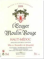 Haut Médoc<br>l'Ecuyer du Moulin Rouge